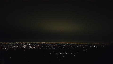 道の駅 月見の里. 夜景